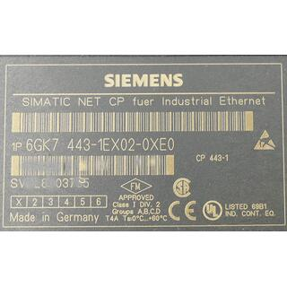 SIEMENS SIMATIC NET 6GK7443-1EX02-0XE0 E-Stand: 1 -used-