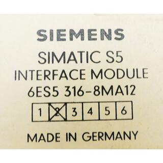 SIEMENS SIMATIC S5 Interface Module 6ES5316-8MA12  Vers. 2 -used-