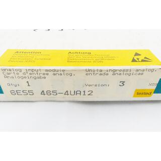 SIEMENS SIMATIC S5 6ES5465-4UA12  Vers. 03  -sealed-