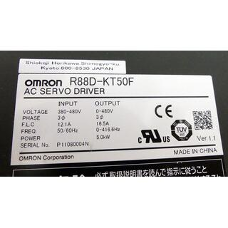 OMRON R88D-KT50F AC SERVO DRIVER Vers.:1.1 + Filter R88A-FIK312-RE -used-