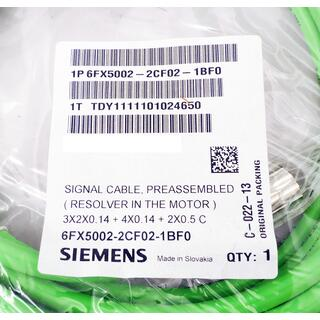 SIEMENS 6FX5002-2CF02-1BF0 6FX5 002-2CF02-1BF0 SIGNAL CABLE -OVP-